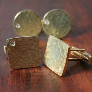 0017_TDM Gold Cufflinks